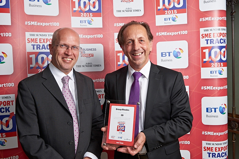 Group Rhodes ranked in Sunday Times SME Export Track 100
